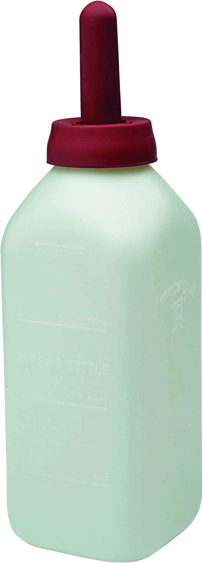 E-Z Nurse Feeding Supplies 2 quart Screw-On Calf Nursing Set of Bottle with Nipple /& Cap Small