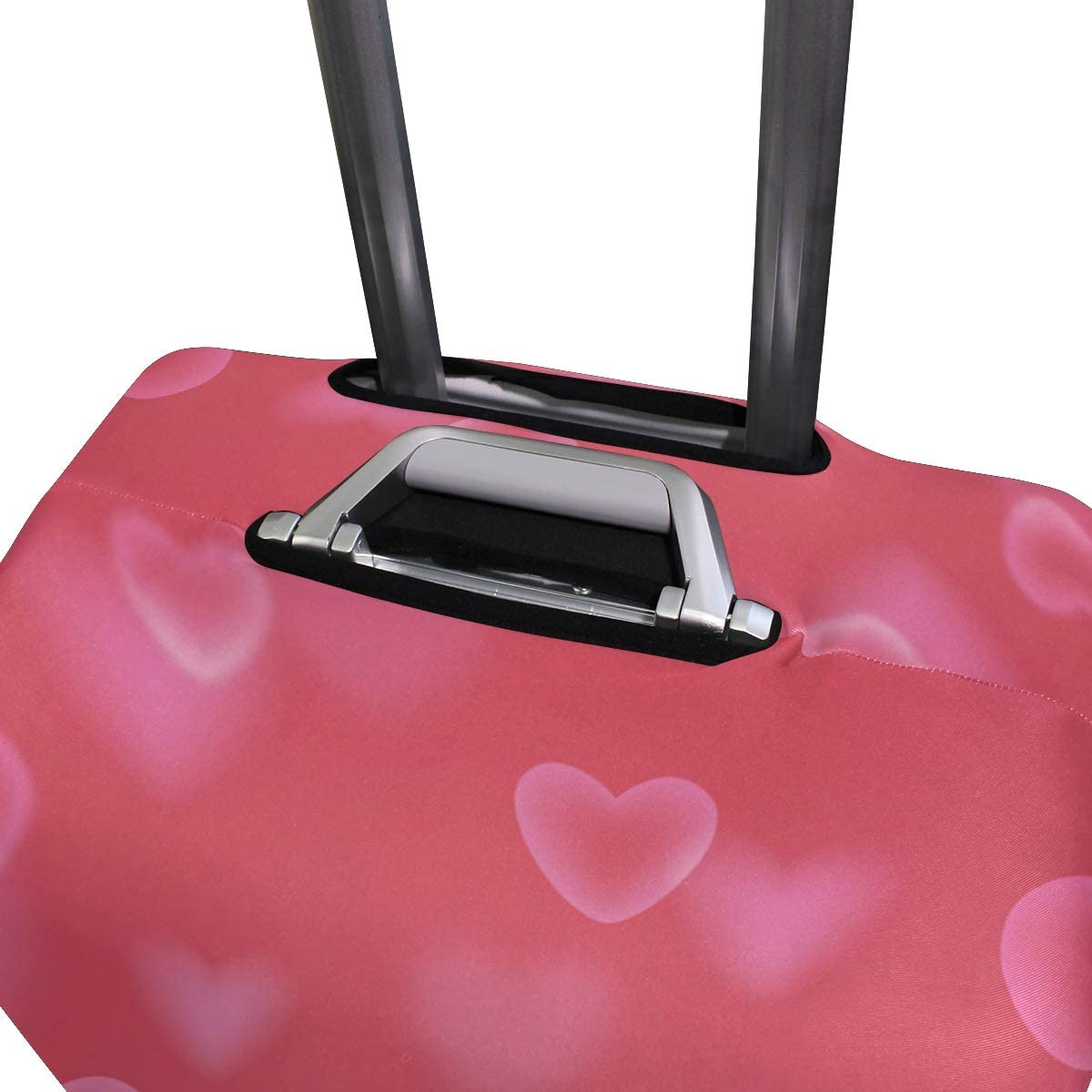 Baggage Covers Romantic Love Heart Pink Pattern Washable Protective Case