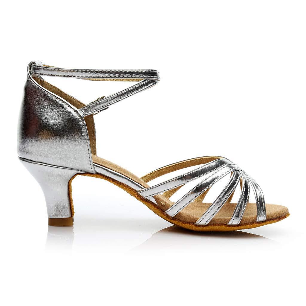 Womens Satin Rhinestones Ballroom Latin Dance Shoes Ballroom Performance Shoes Model
