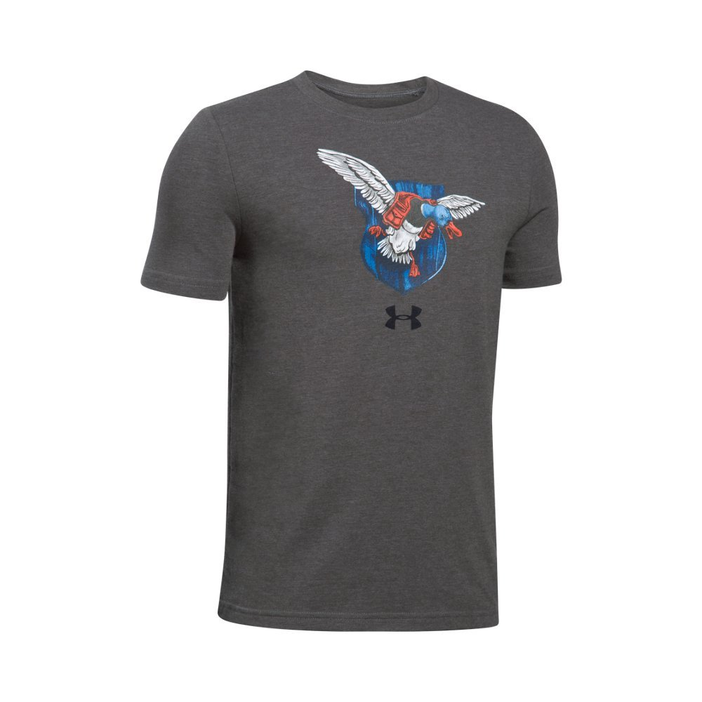 Under Armour Boys' Trophy Collection #3 T-Shirt,Charcoal Medium Heat (019)/Black, Youth Medium by Under Armour
