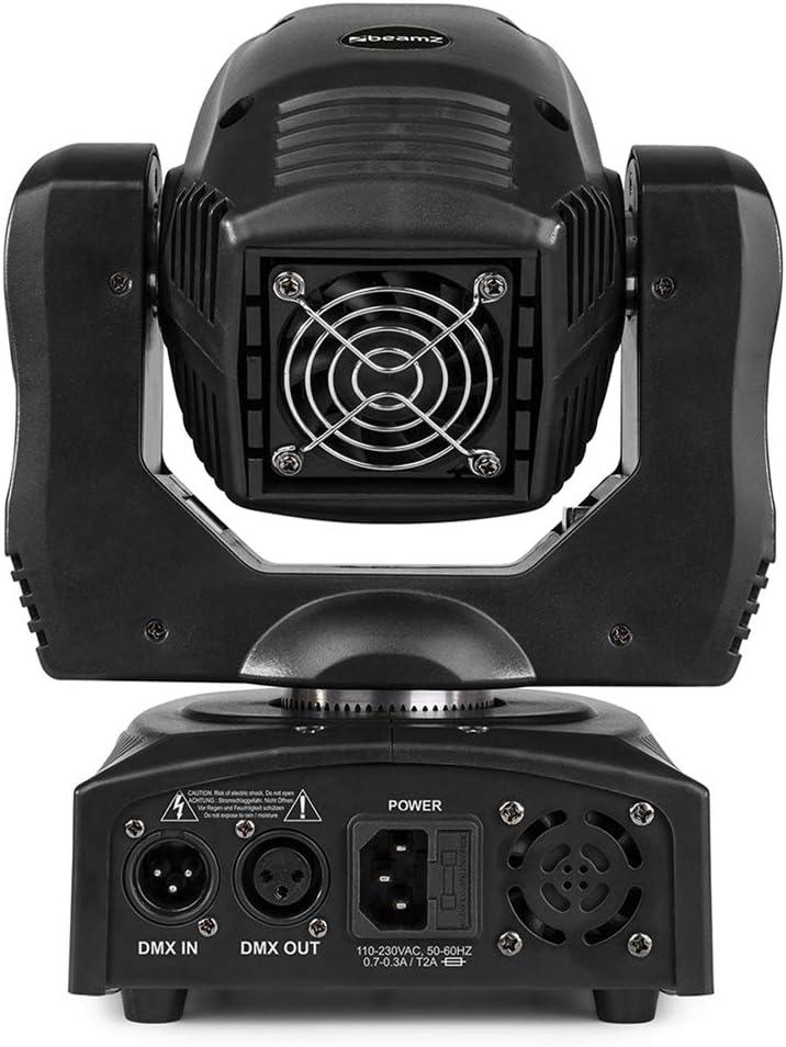 em BeamZ Panther 70 LED Moving Head Spot Light Gobo Open Beam DMX ...