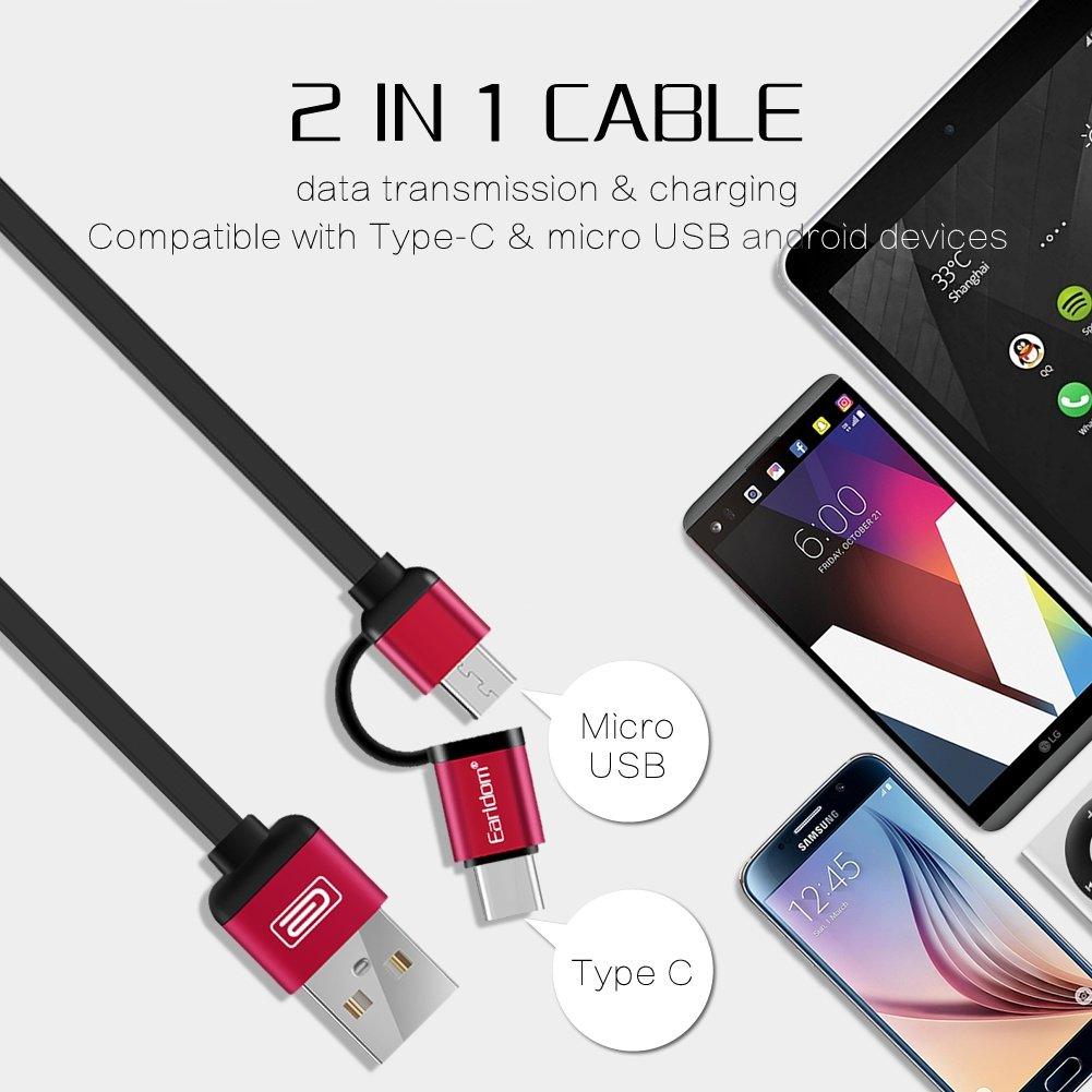 Earldom Kabel Data Dan Charger Super Speed 1m Et G6 Iphone Blue Cable Universal 3 In 1 With 2 Micro Usb 877 Amazoncom Retractable 20 And Type C