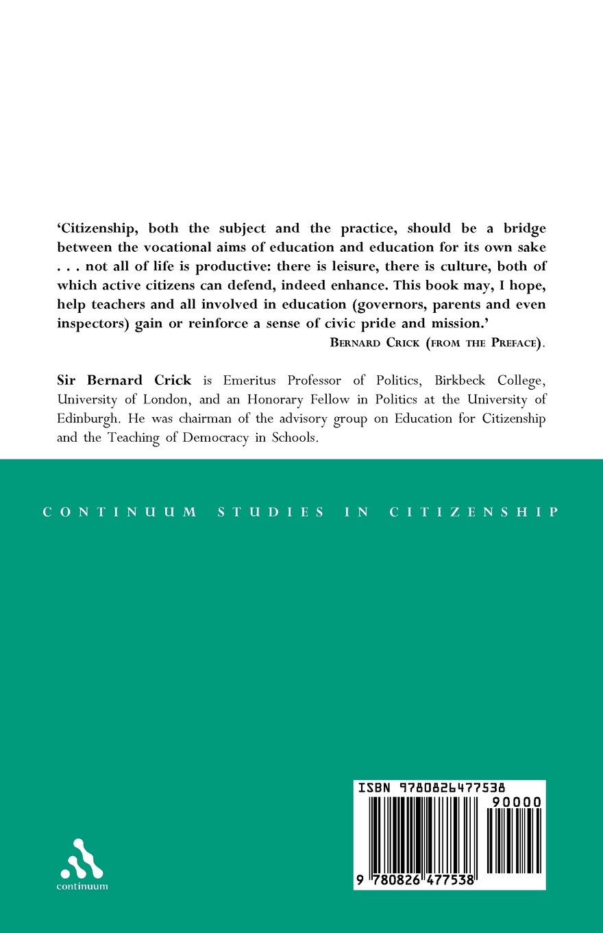 essays on citizenship continuum studies in citizenship series essays on citizenship continuum studies in citizenship series amazon co uk bernard crick 9780826477538 books