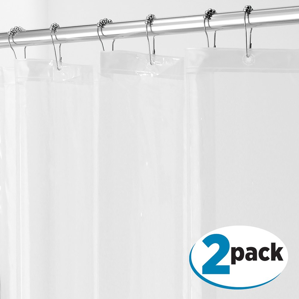 Design PEVA 3G Shower Curtain Liner (PACK of 2 Clear
