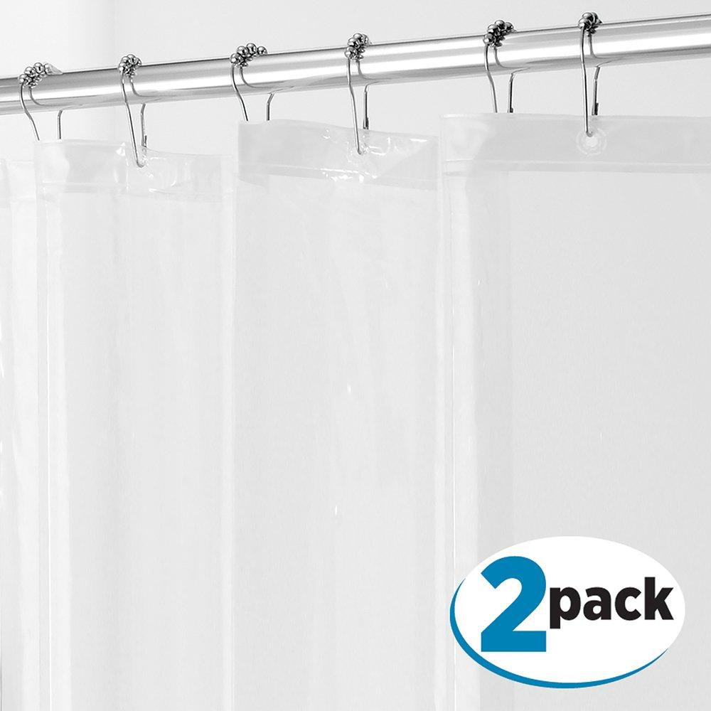 Inter design PEVA 3G Shower Curtain Liner (PACK of 2) MOLD & MILDEW ...