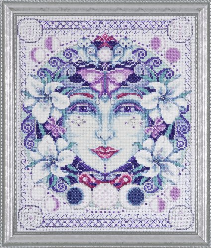 Mother Moon Design by Joan Elliott Complete Counted Cross Stitch Kit (Designs Cross Stitch Counted Moon)