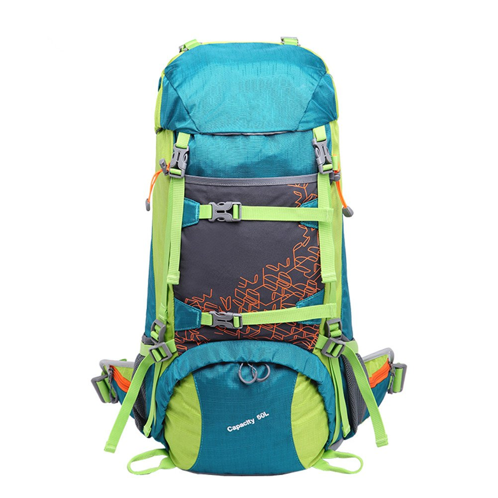 Bestorno Internal Frame Hiking Backpack 50L, Backpacking Backpack for Women and Men (Exclusive Color Design/Blue) by Bestorno