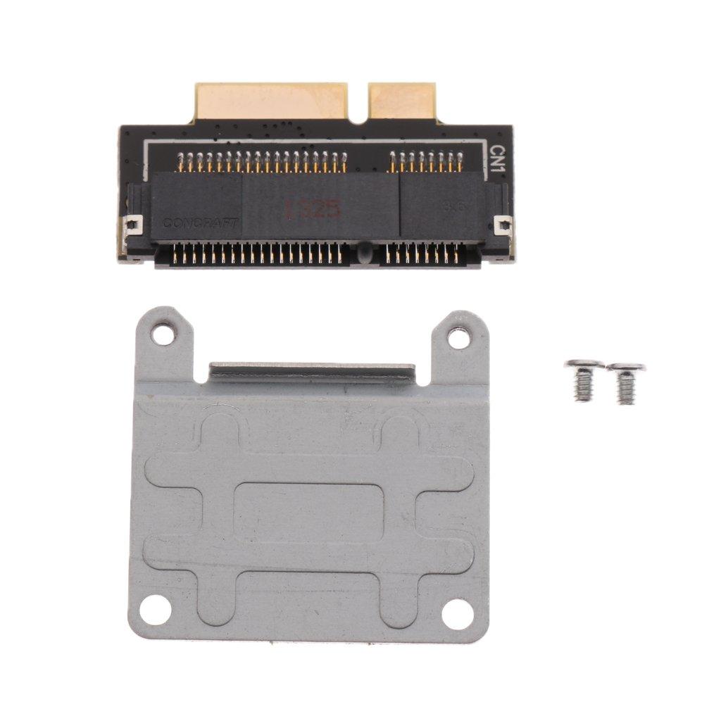perfk mSATA SSD to 18+8pin SSD Pro Retina for i Mac A1398 MC975 MC976 Convertor Card Adapter