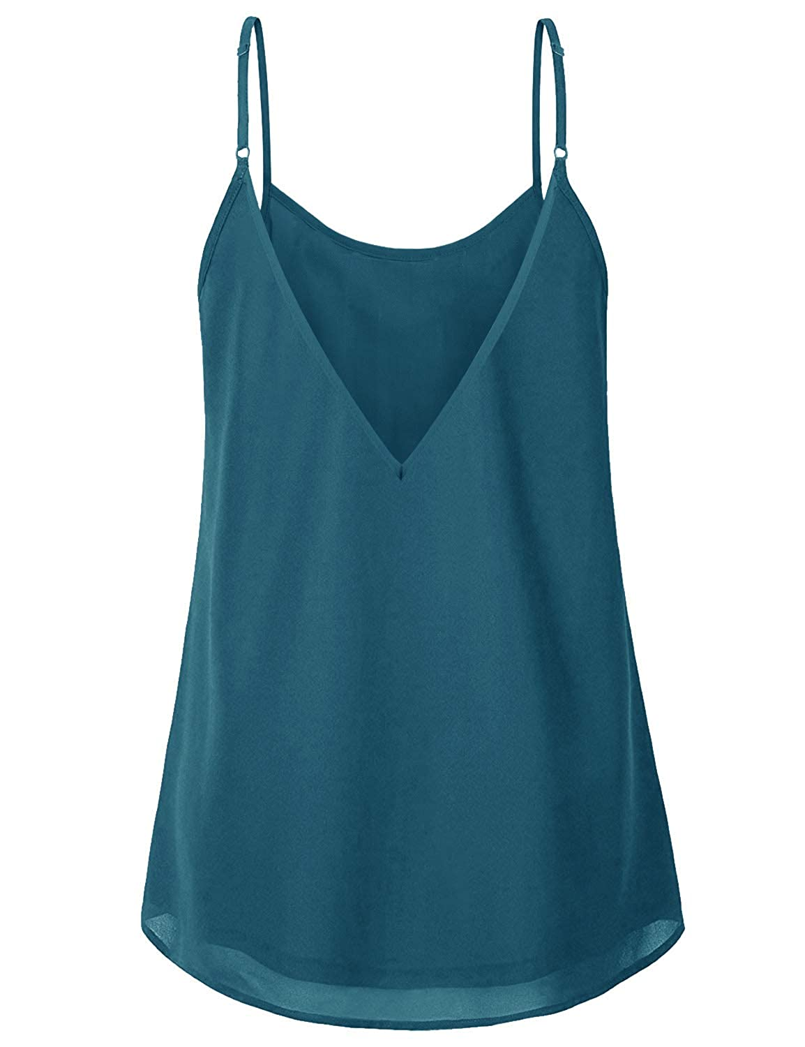d5eacc26a9 Amazon.com: Cyanstyle Women's Pleated Chiffon Layered Camisole Sexy Summer  Cami Tank Tops: Clothing