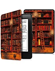 Fintie Hoes voor Kindle Paperwhite - Protective Premium Vegan Leather Cover Case voor All Paperwhite Generations Prior to 2018 (Not Fit All-new Paperwhite 10th Gen), Library