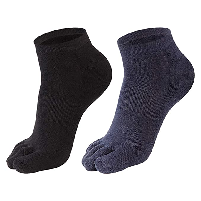 Underwear & Sleepwears Casual 1 Pair Autumn Winter Warm Style Unisx Men Women Five Finger Pure Cotton Toe High Quality Sock 6 Colors