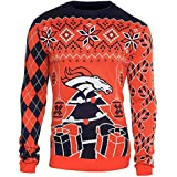 NFL Football Mens Ugly Holiday Christmas Tree & Ornament Sweater - Pick Team
