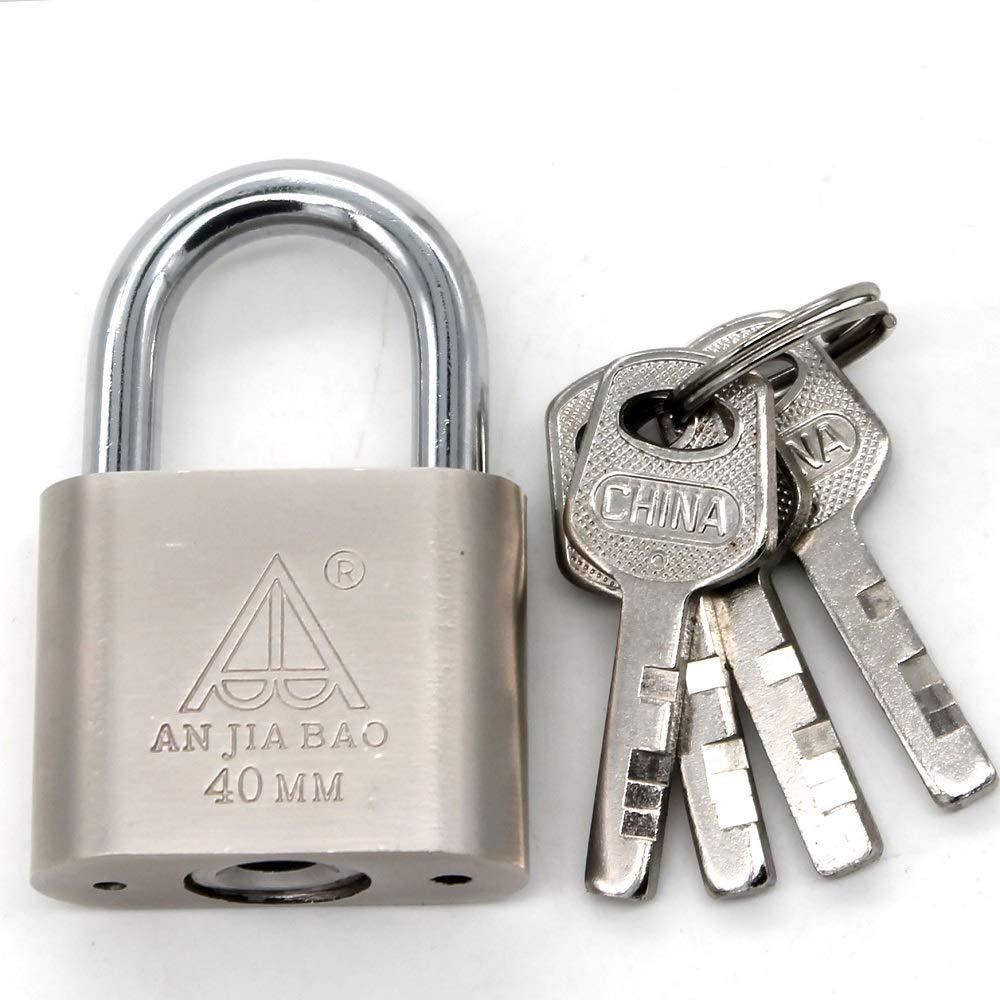 cadenas en acier chrom/é /à cl/é manille de 1 pouce largeur de 1,5 pouce cadenas
