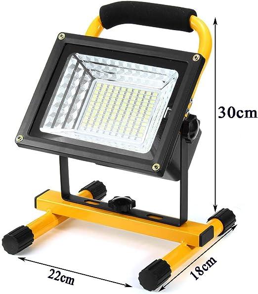 Lámpara Proyector Recargable, Foco LED Portátil Exterior ...