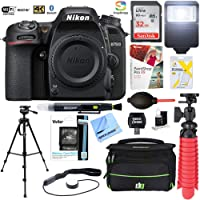 Nikon D7500 20.9MP DX-Format 4K Ultra HD Digital SLR Camera (Body Only) with 32GB Deluxe Bundle - (Certified Refurbished)