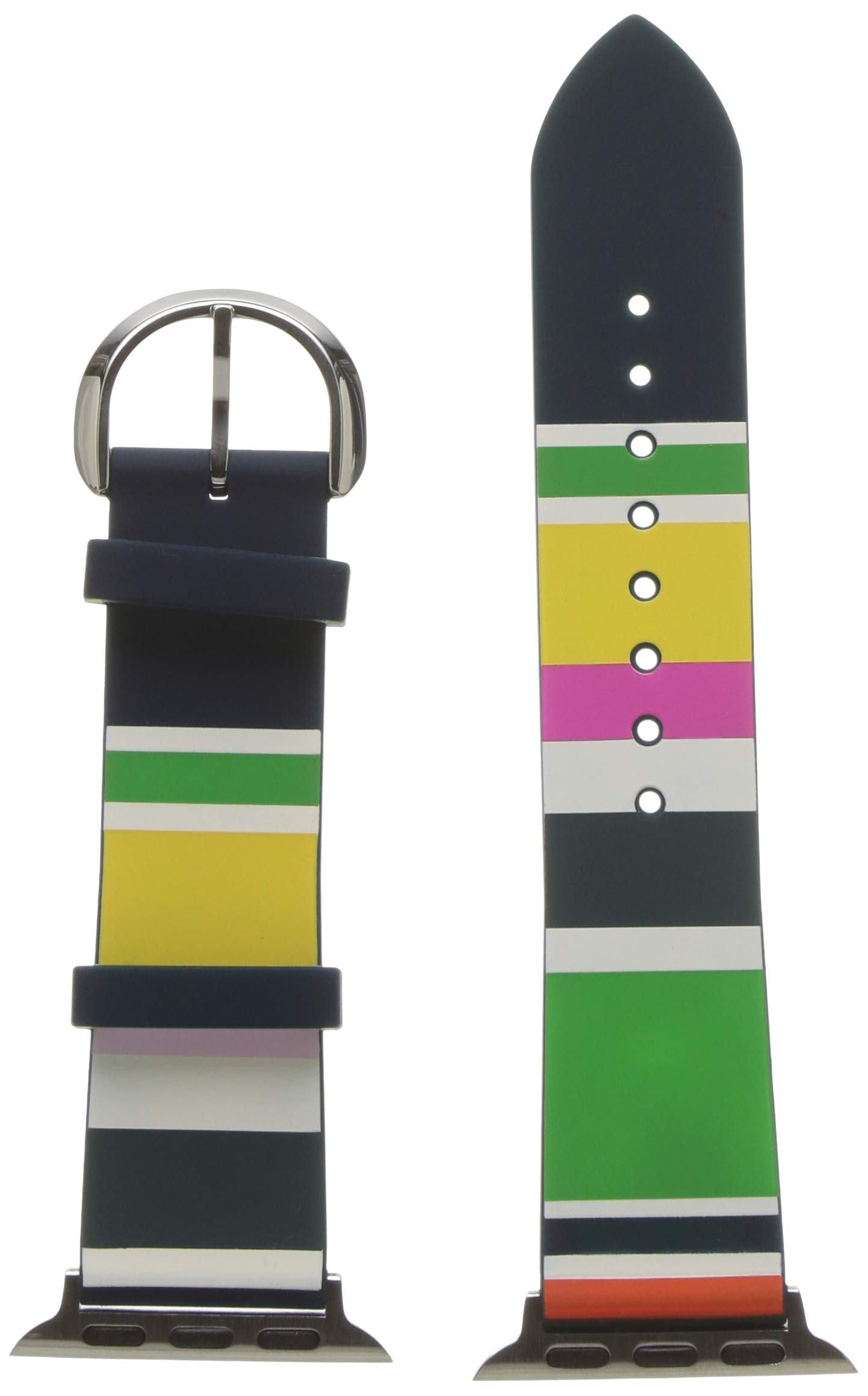 kate spade new york Apple Watch Band Multi-Colored Silicone 38/40mm Strap- KSS0029 Color: Multicolor