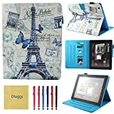 iPad 4 Case, iPad 2 Case, iPad 3 Case, Dluggs PU Leather Folio Smart Stand Wallet Case with Auto Sleep/Wake Function for Apple iPad 2, iPad 3rd generation, iPad 4th generation Tablet, Tower