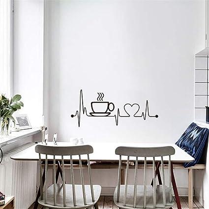 Anmain Tazza Caffè Sticker Da Muro Bar Adesivi Murali Cucina Adesivi ...