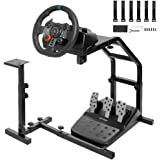 Minneer Racing Streeing Wheel Stand with V2 Support Game Support Stand Up Simulation Driving Bracket for Logitech G29/G27/G25