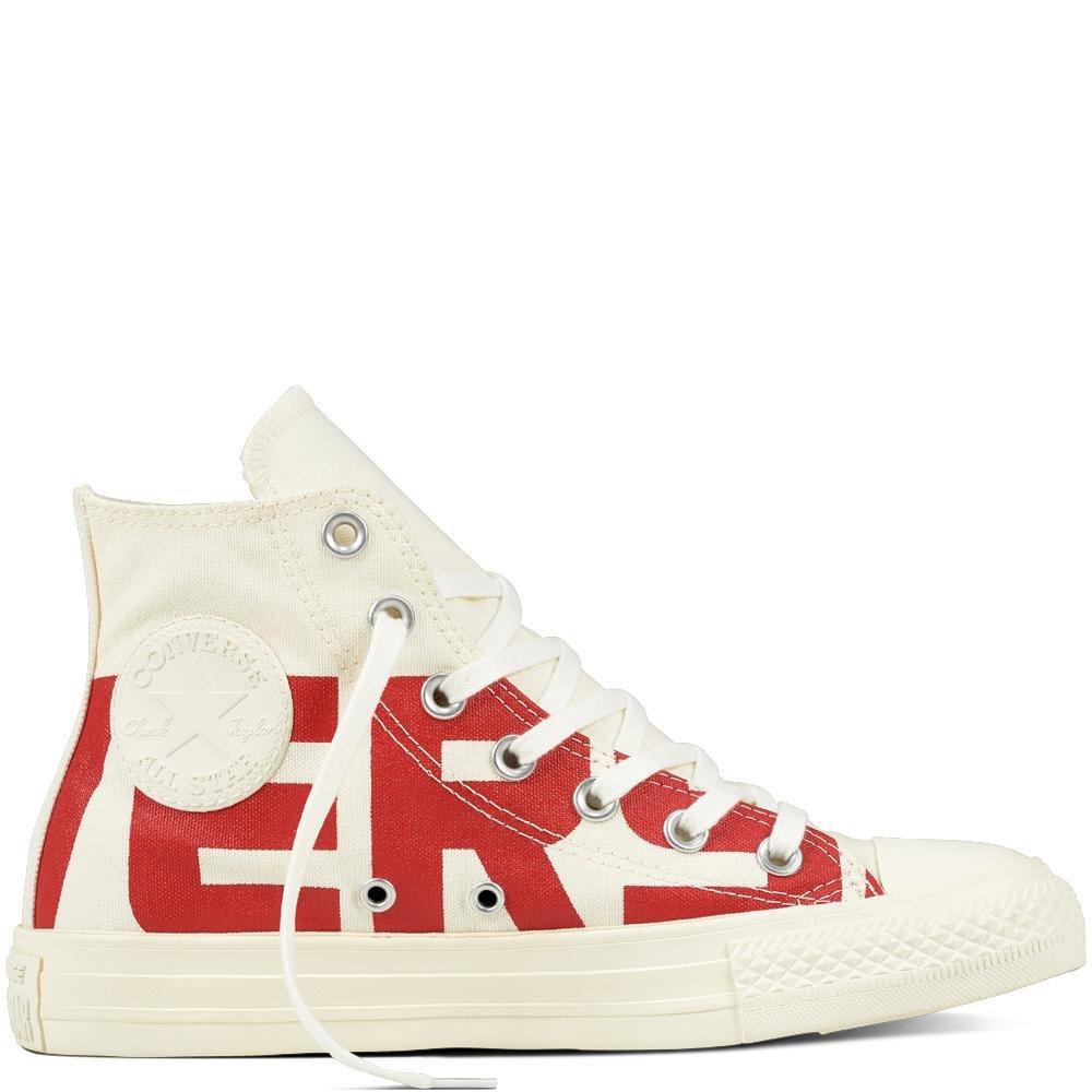 Converse Unisex Erwachsene 159532 Chuck Taylor All Star Sneaker, weiß Mehrfarbig (Natural/Enamel ROT/Egret C159532)