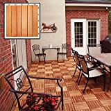 Composed of Eucalyptus Wood Grown Elevated by Plastic Feet Unique Patterns with Interchangeable Styles Eucalyptus 6-slat Snapping Deck Tiles (Box of 10)