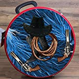 MED HILASON HORSE RED MOLDED HEAVY DUTY ABS ROPE CAN CROSS GUN COWBOY LEATHER