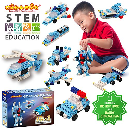 Toys Age 3 5 : Click a brick rescue squad pc building blocks set
