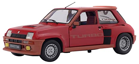 Solido S1801302 - Renault 5 TURBO 1984, Rojo, modelo en miniatura (Escala 1