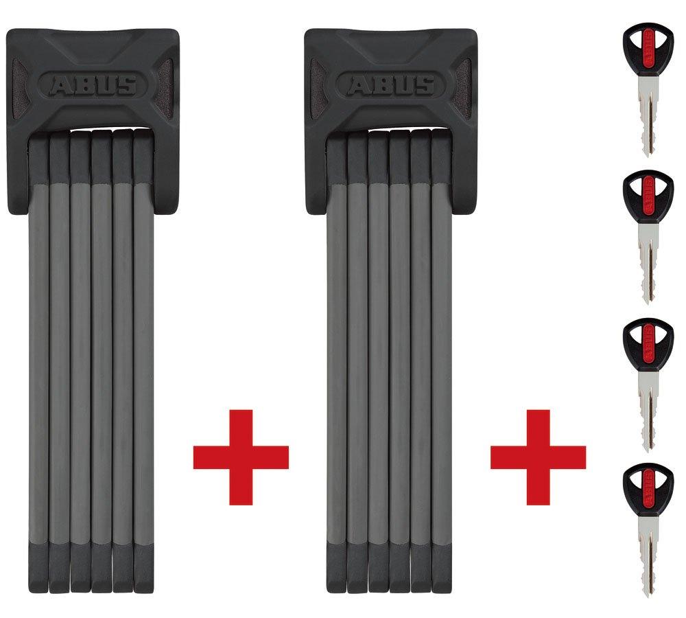 ABUS Faltschloss Bordo Twinset 6000 90, schwarz, 2 x 90 cm, 53193