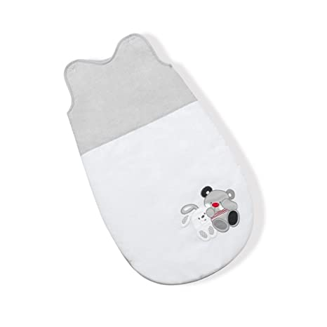 Interbaby Amigos - Saco para dormir, 74 cm, color gris