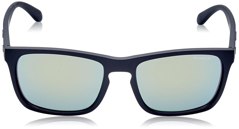Arnette Mens Burnside Non-Polarized Iridium Rectangular Sunglasses matte black 56.1 mm 0AN4236