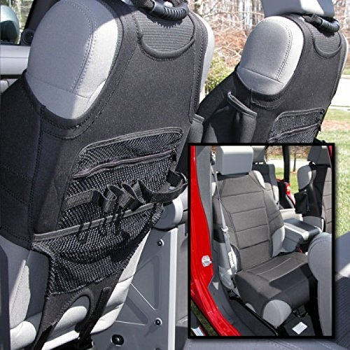 5. Rugged Ridge 13235.20 Black Neoprene Front Seat Protector Vest for 2007-2018 Jeep Wrangler JK and JL Models - Pair