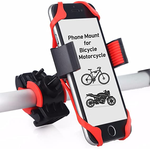 GUB Bike Phone Mount Holder,Bicycle Handlebar Phone Holder Mount Universal Adjustable Rotating Cradle Clamp for Mountain Bike Motorcycle,Fits for iPhone,Samsung Galaxy Android Phones Black 88
