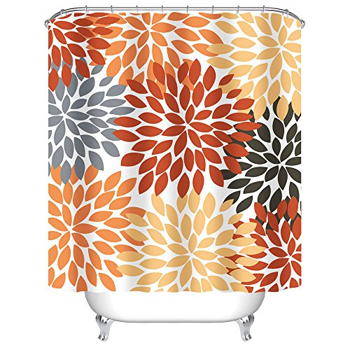 Compare Price To Grey And Orange Shower Curtain