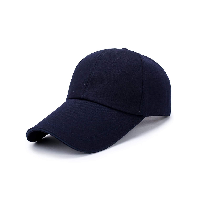 Baseball Cap for Men Women Long Visor Brim Hat Casual Hip Hop Adjustable Caps Fashion Unisex Outdoor Sun Hat
