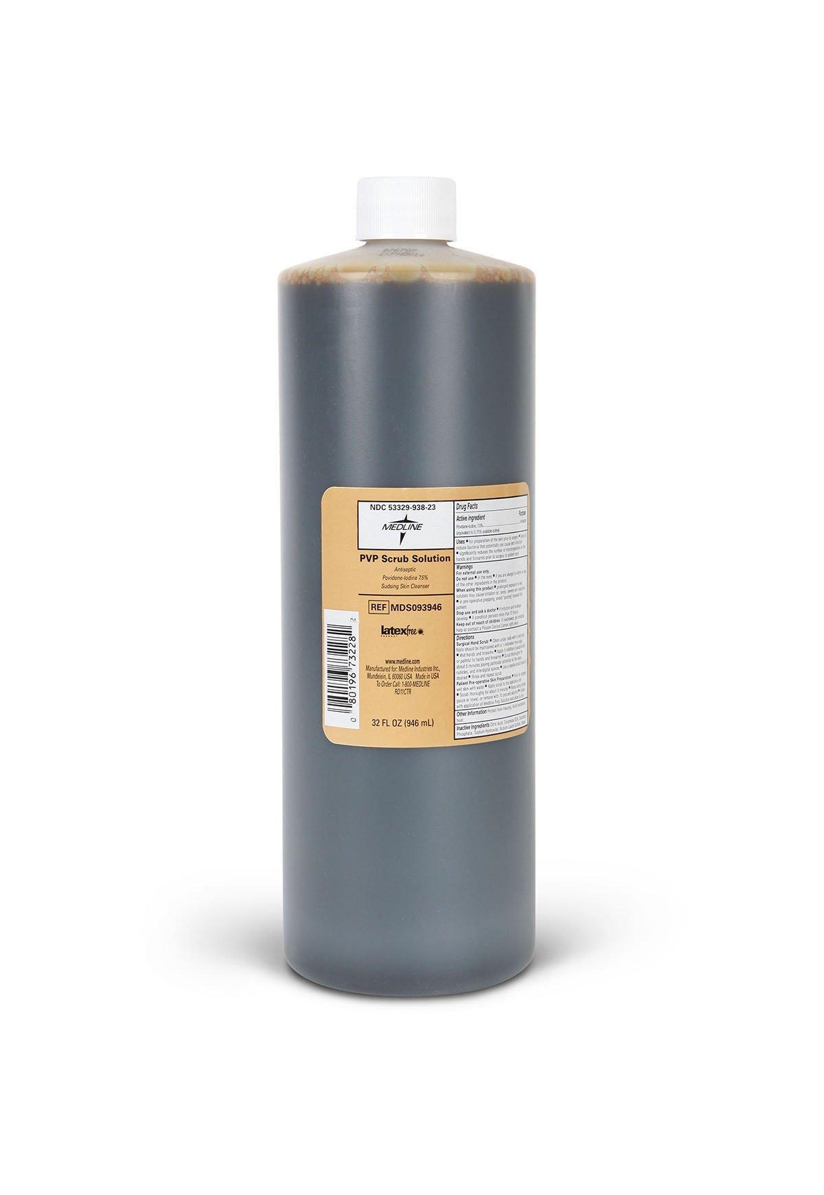 Medline MDS093946H Povidone Iodine Scrub Solutions