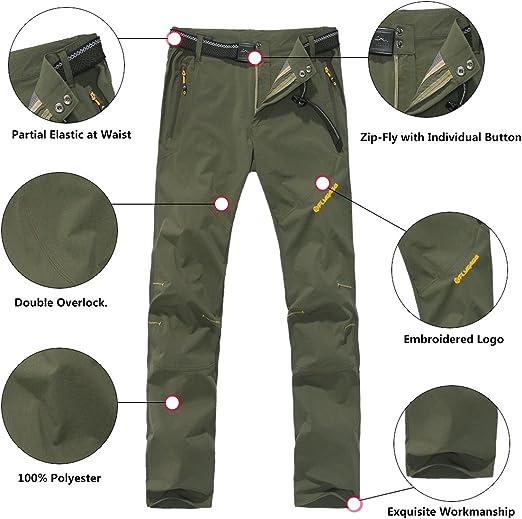 Asfixiado Womens Hiking Pants Stretch Outdoor Lightweight Quick Dry Convertible Elastic Waist UPF 50 Cargo Capri with Pockets