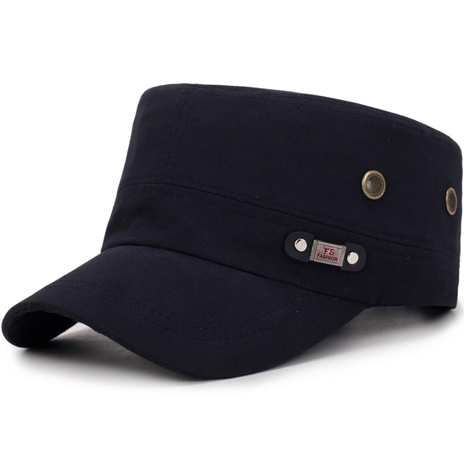 2019 Fashion Hat Mens Military Washed Hats Flat Top Baseball Caps Cotton Dad Caps