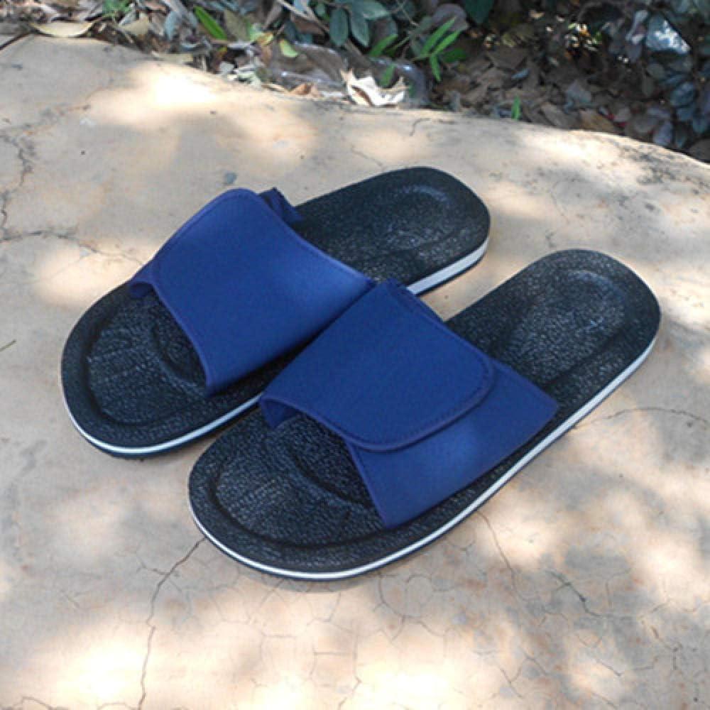 apatillas Ortopédica para,Zapatos hinchados de Verano ,Zapatillas de hombre ajustables de gran tamaño, sandalias de fondo plano-48_Azul + negro,Zapatillas Ortopédica para,Zapatos de confinamiento