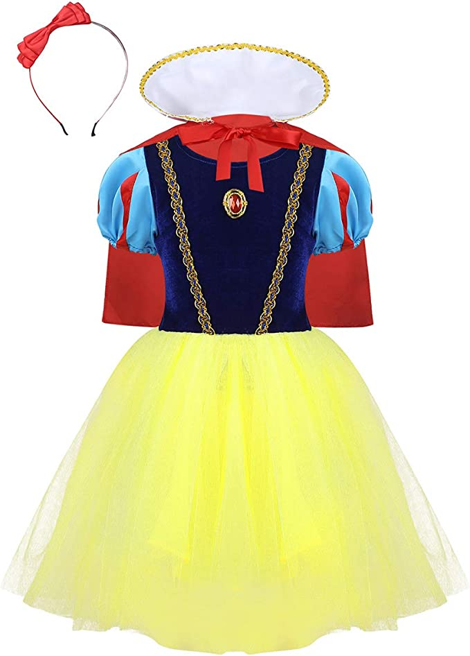 Agoky Disfraz de Princesa Blancanieves para Niña Vestido Princesa ...