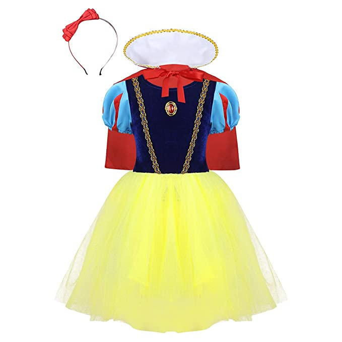 Agoky Disfraz de Princesa Blancanieves para Niña Vestido ...