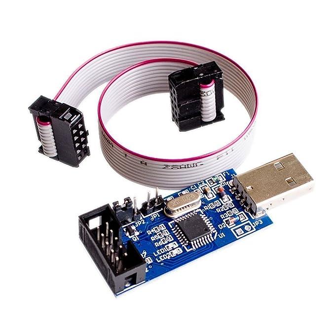HALJIA USBASP USBISP Downloader Programmer for 51 AVR