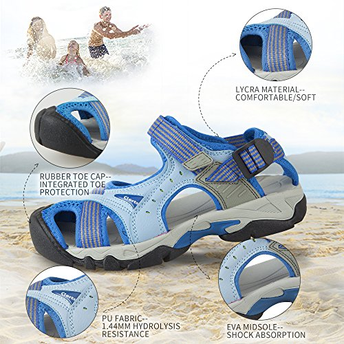 Clorts Anti Sport Whisper Ventilate Shoes skid drying Sandals Water Sandals SD202 Quick Beach Summer Amphibious Outdoor Blue Hiking Women's rgwRpr