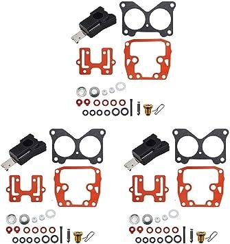 435443 434888 439076 MOTOALL 3 Packs Carburetor Repair Kit for 85 90 100 115 140 HP Johnson Evinrude V6 V4 Crossflow 390055 392550 398526
