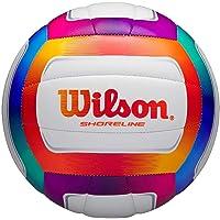 Wilson WTH12020XB Balón de Voléibol, Shoreline, Cuero Sintético, Uso Exterior, Multicolor/Blanco
