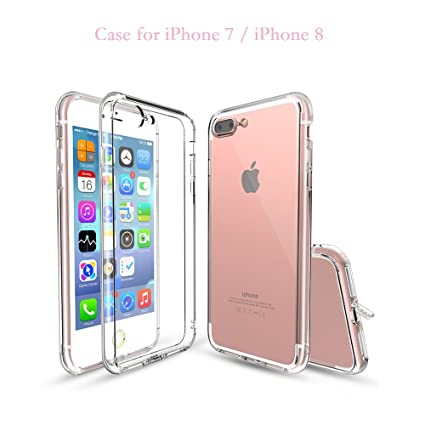 huge selection of 177ae 75f5c crystal clear case for iPhone 7 iPhone 8 with dustproof: Amazon.in ...