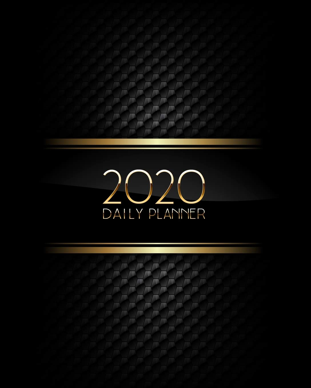 2020 Daily Planner: Luxury Black and Gold Texture Daily ...