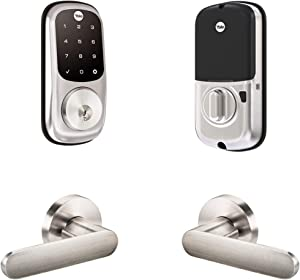 Yale Assure Lock Touchscreen with Kincaid Lever in Satin Nickel