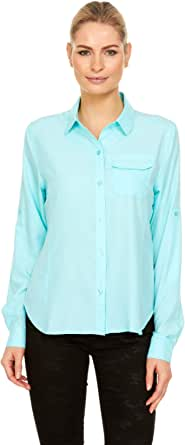 Swiss Alps Womens UPF 30+ Sun Protection Long Sleeve Lightweight Breathable Outdoor Fishing Shirt