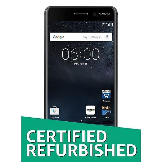 (Certified Refurbished) Nokia 6 (Matte Black, 32GB) Smartphones at amazon